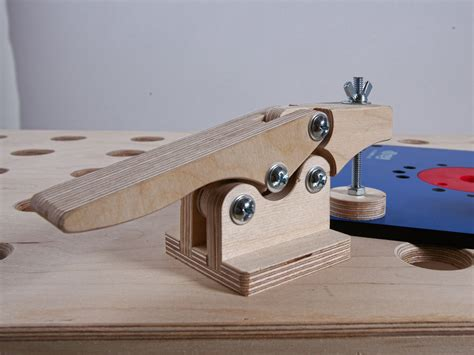 Wooden Toggle Clamp Plansource