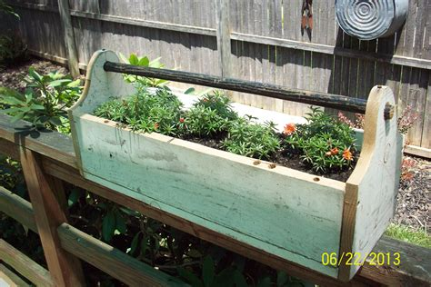 Wooden Toolbox Planters