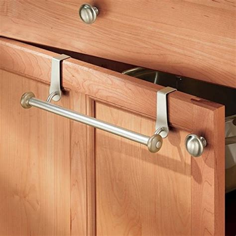 Wooden Towel Bars For Kitchen Cabinets