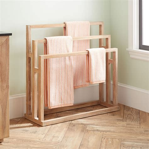 Wooden Towel Rack Freestanding Gas Range