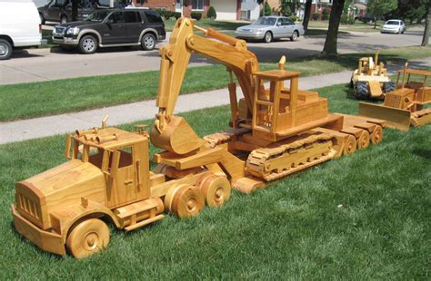 Wooden Toy Construction Equipment Plans For Building