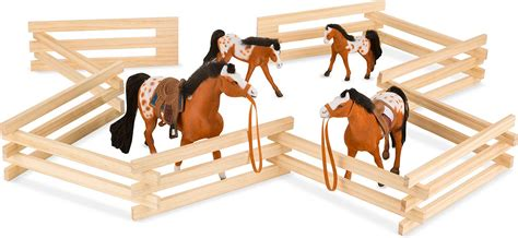 Wooden Toy Horse Corral