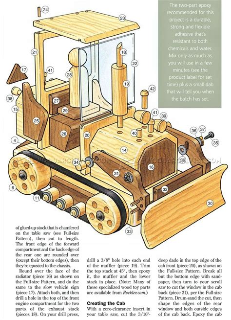 Wooden Toy Plans Bulldozer