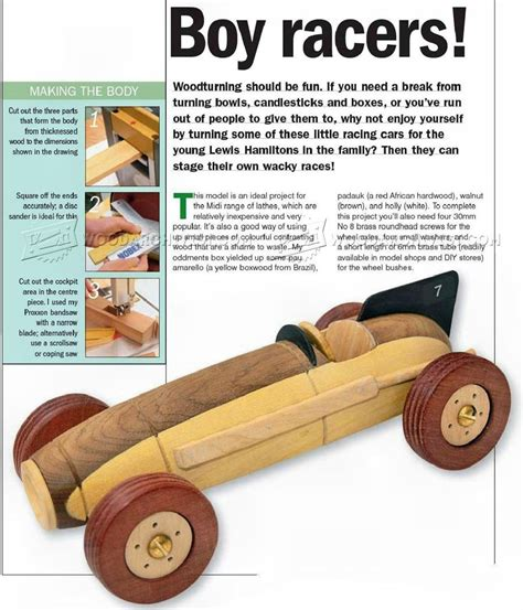 Wooden Toy Race Car Plans