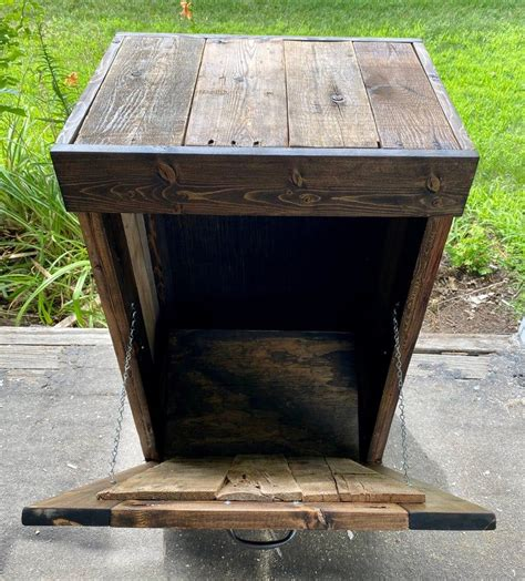 Wooden Trash Can Holder Plans