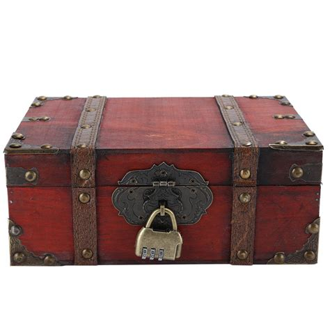 Wooden Treasure Box With Lock