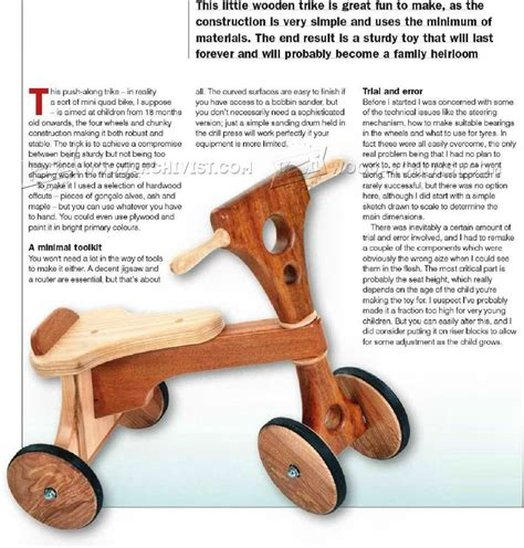 Wooden Tricycle Plans