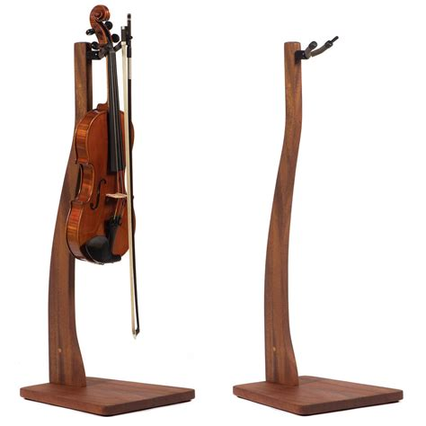 Wooden Violin Stand With Bow Holder