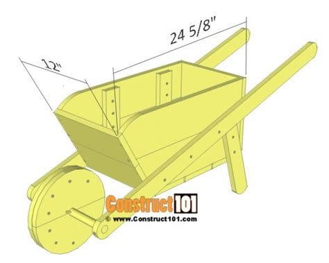Wooden Wheelbarrow Planter Plans Or Drawings For Door