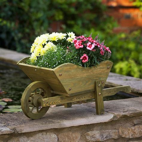 Wooden Wheelbarrow Planters Pictures