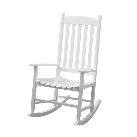 Wooden White Rocking Chair