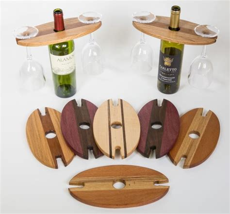 Wooden Wine Glass Holder On Bottle Plans