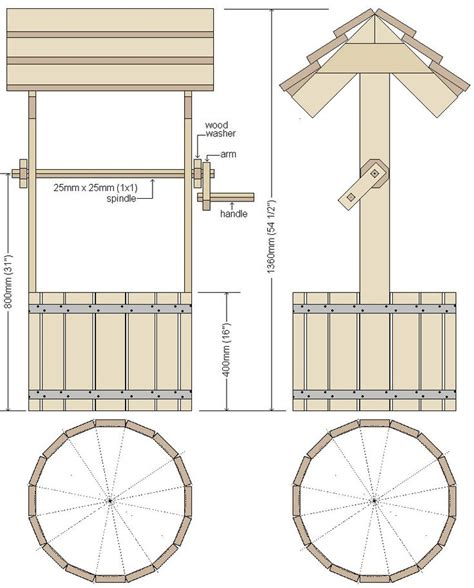 Wooden Wishing Well Plans Pdf