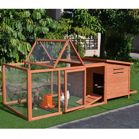 Wooden chicken coop and run Image