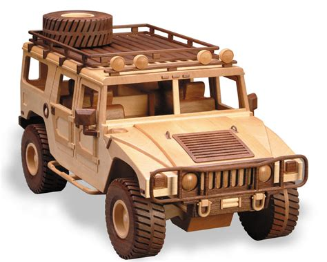 Wooden patterns for military vehicles Image