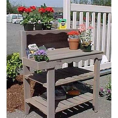 Wooden potting bench b&q Image