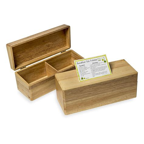 Wooden recipe boxes that holds 4 x 6 Image
