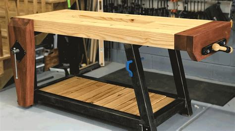 Wooden work bench designs Image