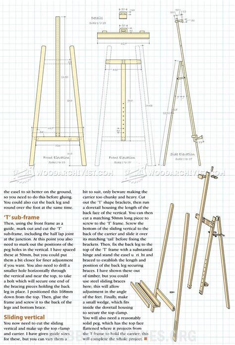 Wooden-Artist-Easel-Plans