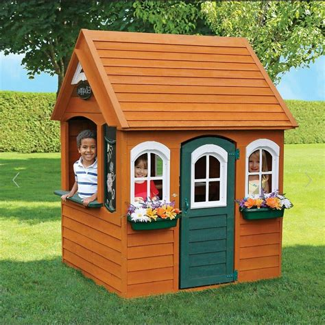 Wooden-Backyard-Playhouse