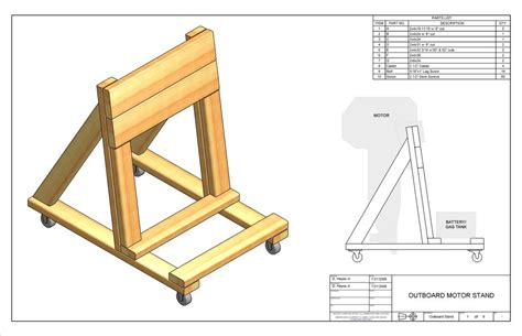 Wooden-Boat-Motor-Stand-Plans