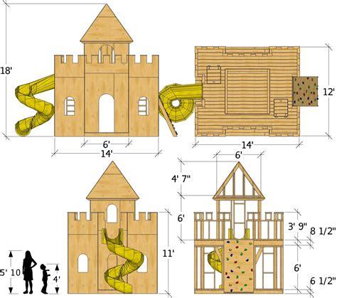 Wooden-Castle-Playhouse-Plans