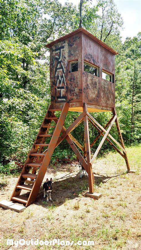 Wooden-Deer-Stand-Plans