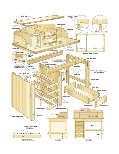 Wooden-Desk-Woodworking-Plans