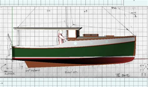 Wooden-Displacement-Boat-Plans