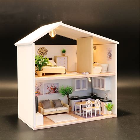 Wooden-Diy-Dollhouses-With-Furnishings