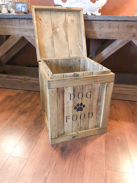 Wooden-Dog-Food-Storage-Bin-Plans