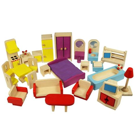 Wooden-Dolls-House-With-Furniture