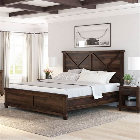 Wooden-Farmhouse-Bed-Frame