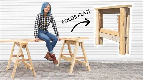 Wooden-Foldable-Saw-Horse-Diy