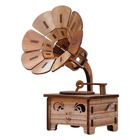 Wooden-Gramophone-Music-Box-Diy