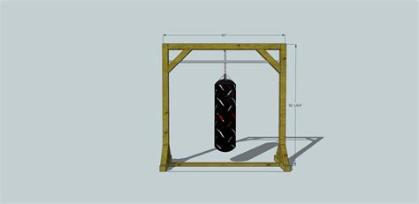 Wooden-Heavy-Bag-Stand-Plans