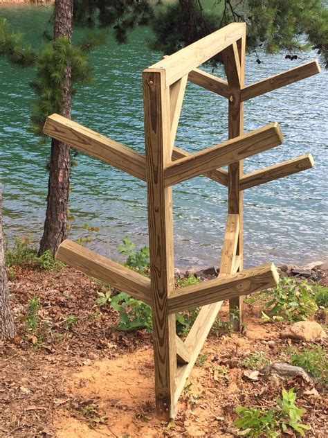 Wooden-Kayak-Stand-Plans