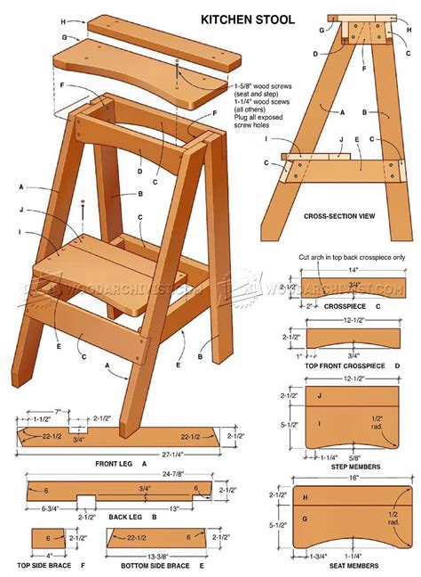 Wooden-Kitchen-Stool-Plans