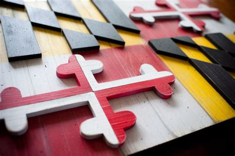 Wooden-Maryland-Flag-Plans