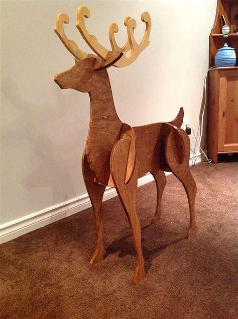 Wooden-Outdoor-Reindeer