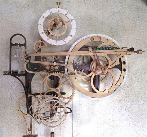 Wooden-Peg-Gear-Clock-Plans
