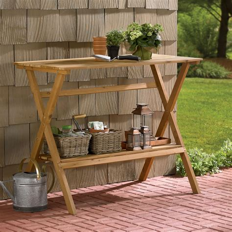 Wooden-Potting-Table