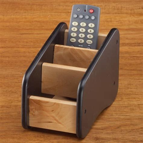 Wooden-Remote-Control-Caddy-Plans