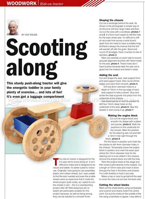 Wooden-Ride-On-Toy-Tractor-Plans