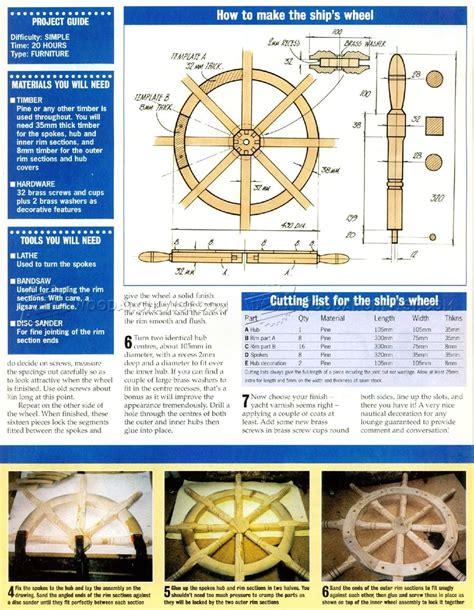 Wooden-Ship-Wheel-Plans