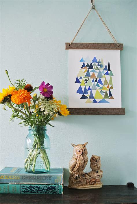 Wooden-Slat-Hanging-Frame-Diy