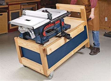 Wooden-Table-Saw-Stand-Plans