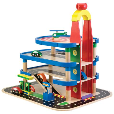 Wooden-Toy-Garages-For-Toddlers