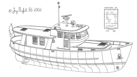 Wooden-Trawler-Boat-Plans