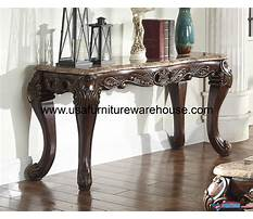 Best Wooden console table with marble top